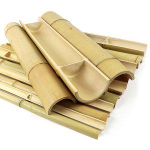 split bamboo poles various diameters