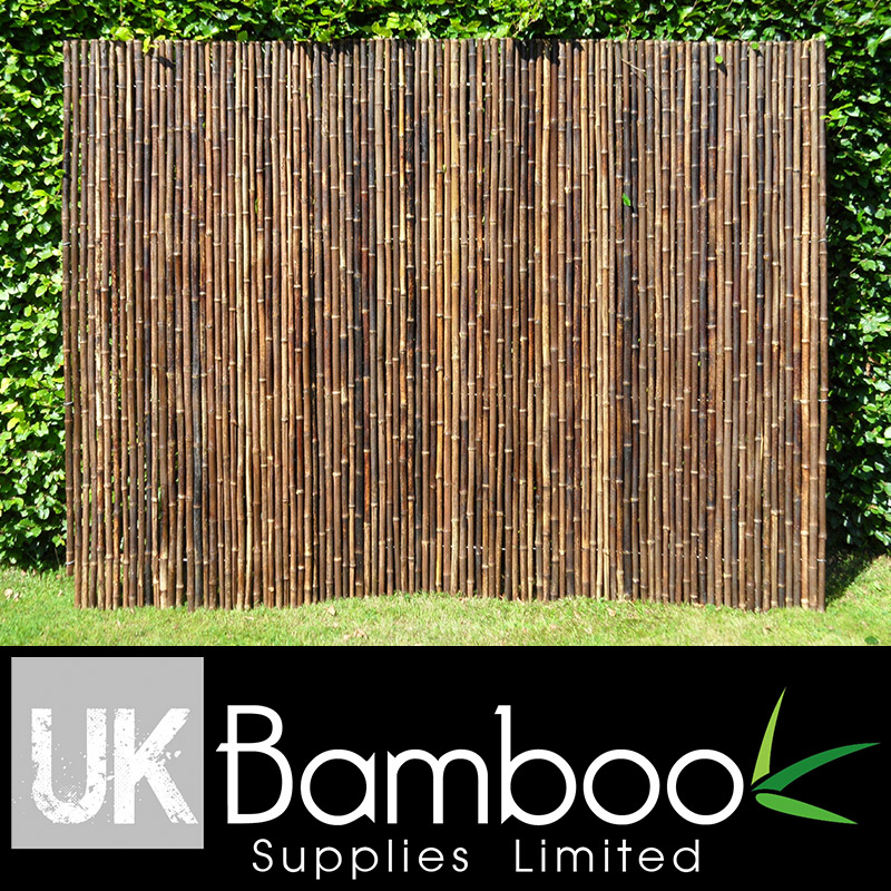 20/25mm Natural Black Bamboo Screen x 2 metres (1in x 6ft7)