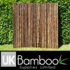 30/40mm Natural Black Bamboo Screen x 2 metres (1.4in x 6ft7)