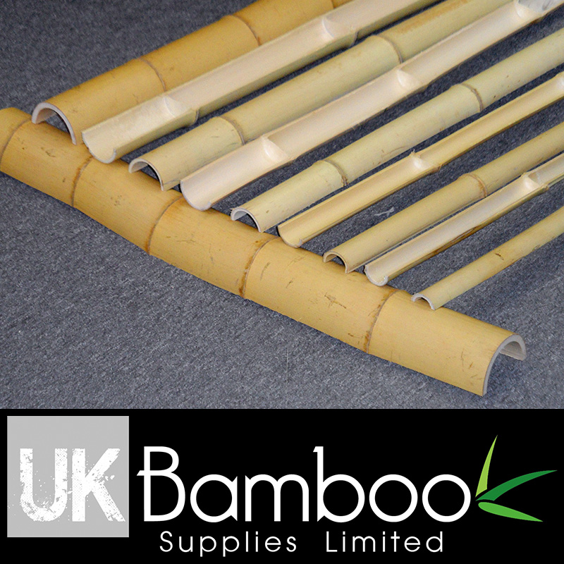Split Natural Moso Bamboo Poles (Half Pole)