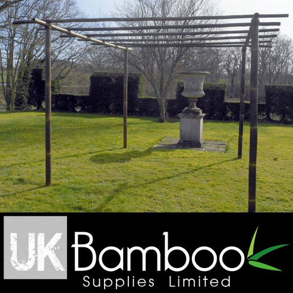 Black Bamboo Pergola Kit