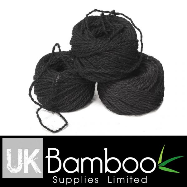 3mm Black Palm Fibre Twine x 50 metres (160ft)