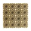 bamboo ply board tile with geometric laser engraved pattern