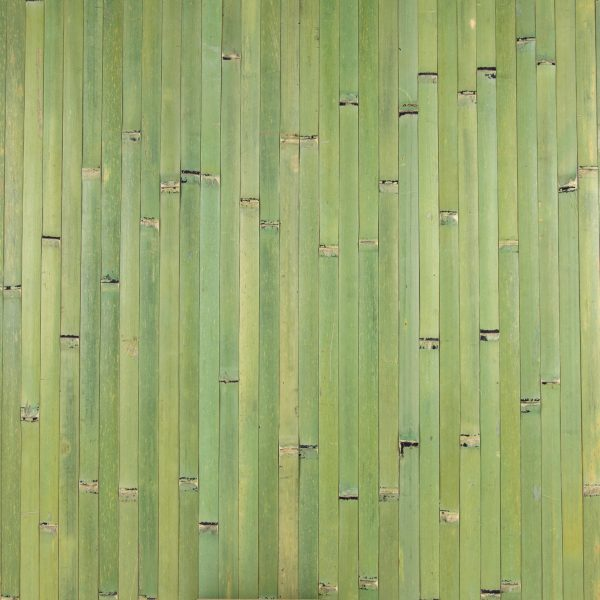 raw green bamboo panel from a distance
