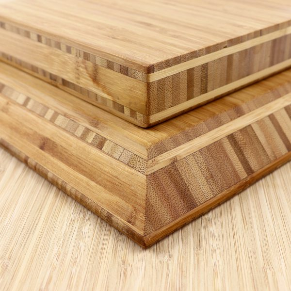 bamboo board with bevelled edge and straight edge