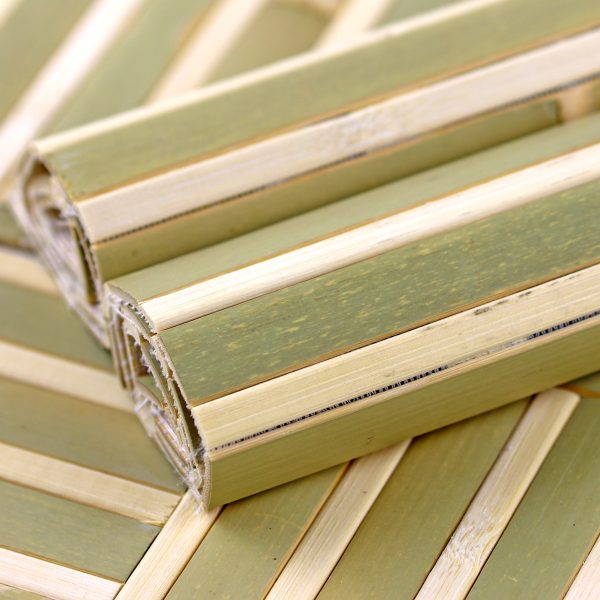 bamboo roll panels mystic forest close up