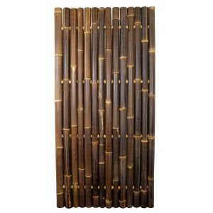 Bamboo Whole Pole Fence Java Black