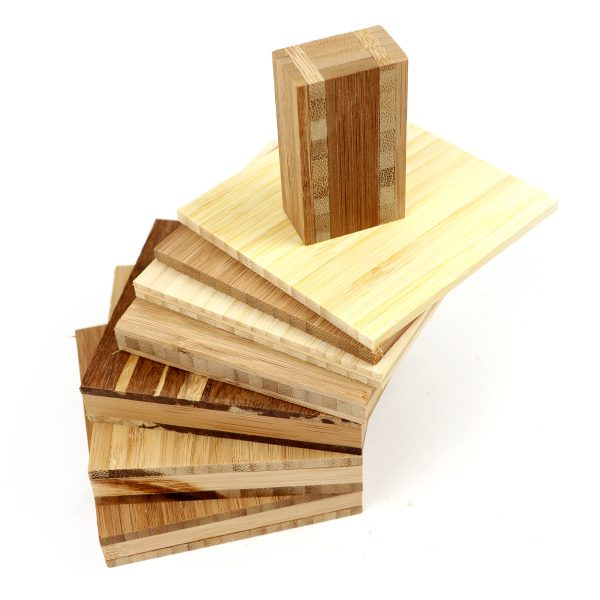 bamboo board pieces stacked up various colours