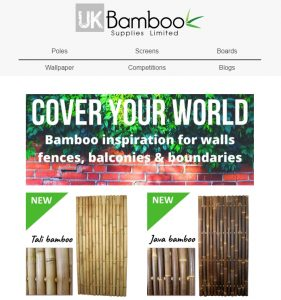 UK Bamboo supplies - Newsletter Sign-Up