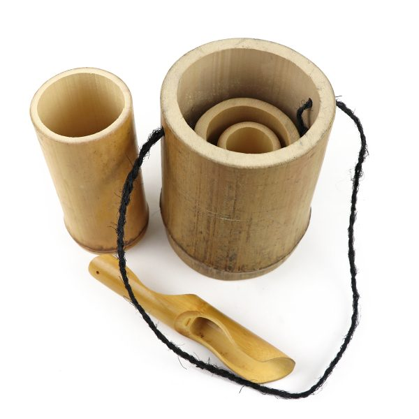 bamboo playset showing stacking cups