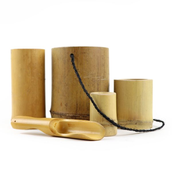 bamboo planting and playset with scoop