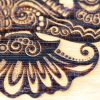 detail of laser engraved natural bamboo veneer sheet