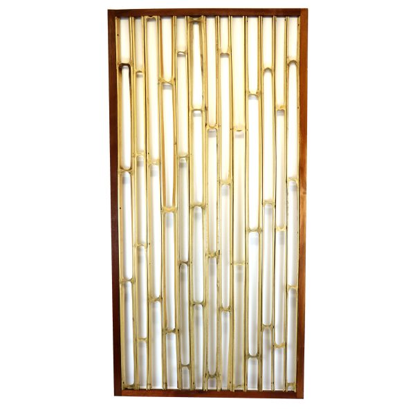 bamboo partition screen bamboo set into wooden frame