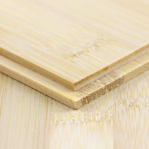 side view of two 3mm plain pressed bamboo boards in natural