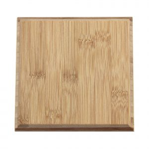 single square bamboo tile in caramel