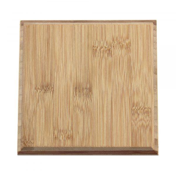single square bamboo tile in caramel