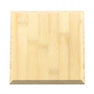 single square bamboo tile in natural colour
